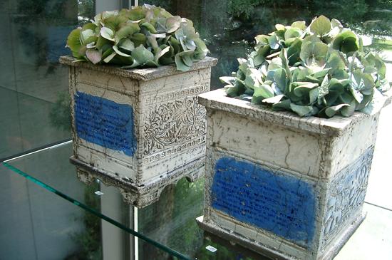 Raku-Pflanzgefäß aus Keramik