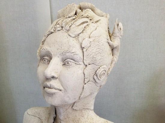 Skulptur mit Echse 2016