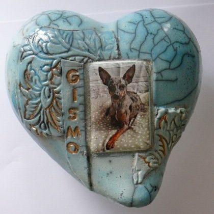 Tierurne Herz Foto Keramik Ton