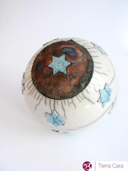 Raku Tierurne Sternenhimmel Keramik Ton