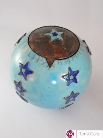 Raku Tieruene türkis Keramik Ton