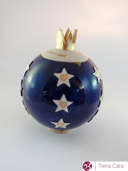 Tierurne Sternenhimmel blau Keramik Ton Gaby Pühmeyer