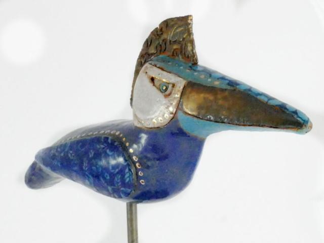 Keramik Vogel Garten