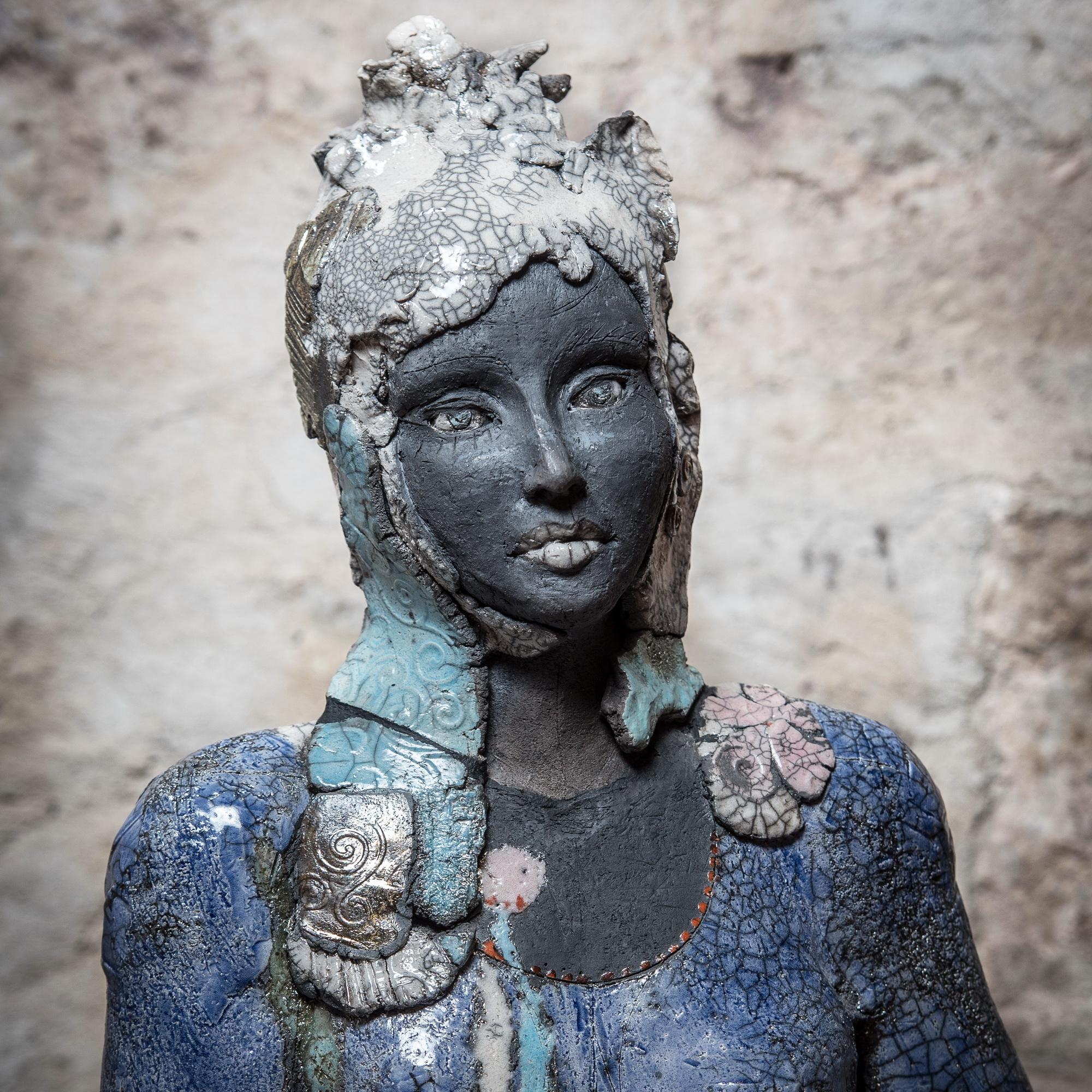 Raku Skulptur Aus Keramik Elsa Gaby Puhmeyer Gaby Puhmeyer
