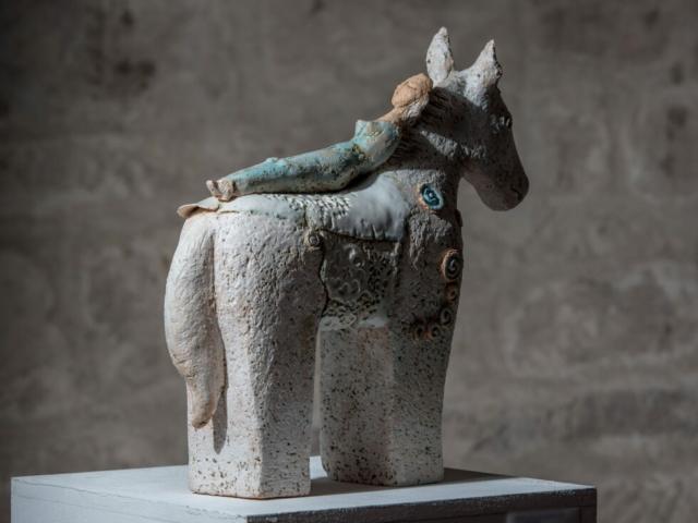 Skulptur Keramik Ton Pferd Keramikkunst Kunst