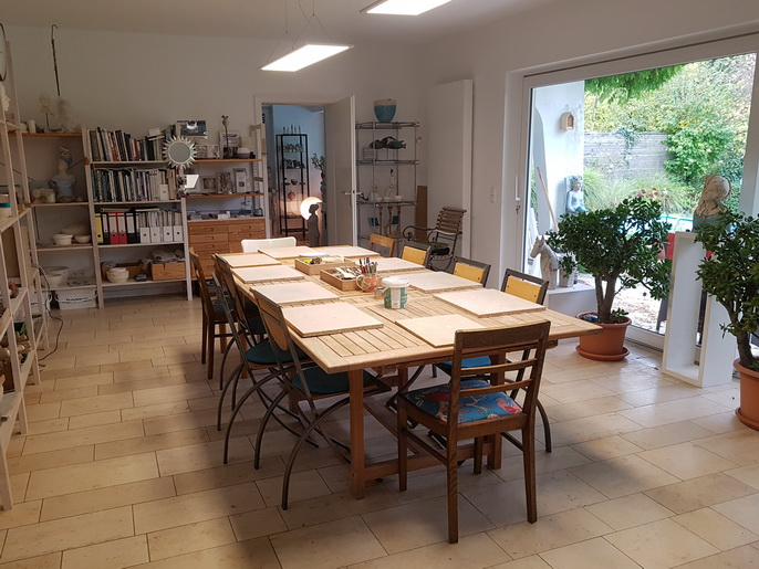 Keramik-Workshop Töpferkurs Kopf modellieren aus Ton